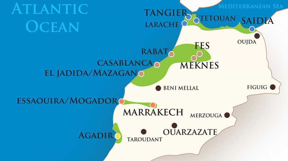 Map of Northern Morocco.