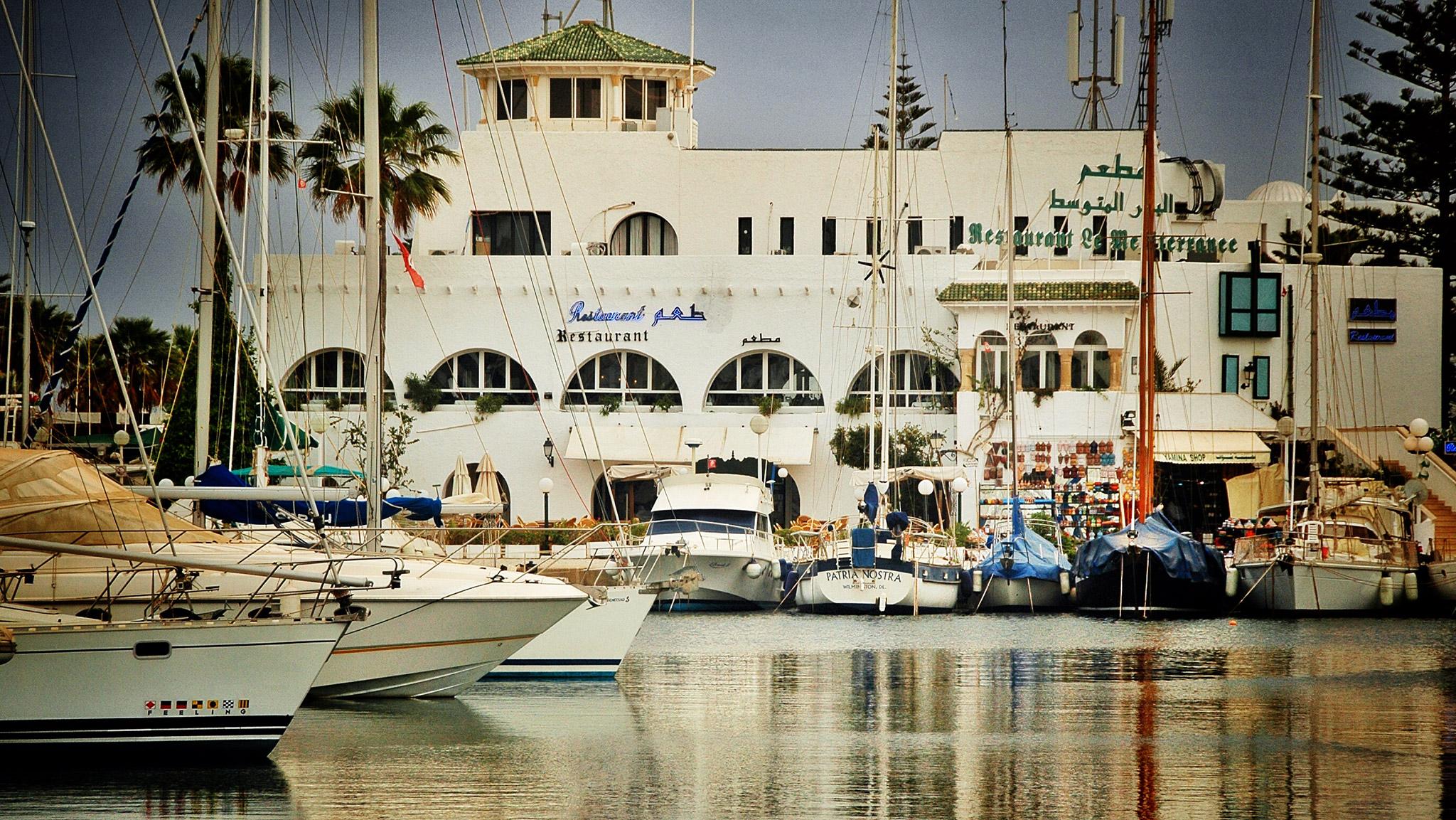 The excellent Restaurant Le Méditerranée in Port El Kantaoui.