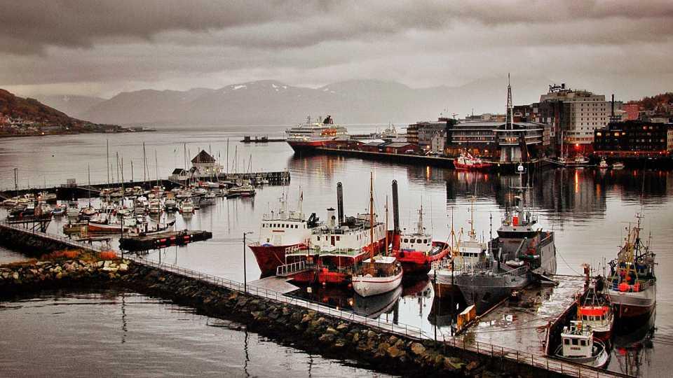 The harbor in Tromsö.