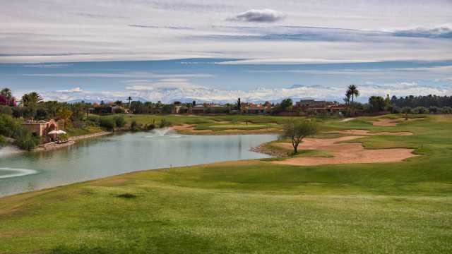 The 6th hole on the red loop, the signature hole.