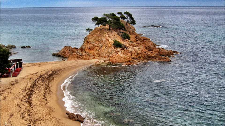 View from the balcony at Silken Park Hotel in San Jorge, Costa Brava.