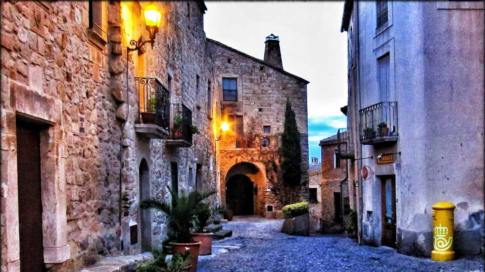 The medieval town of Pals is stunning at dusk, and well worth a visit.