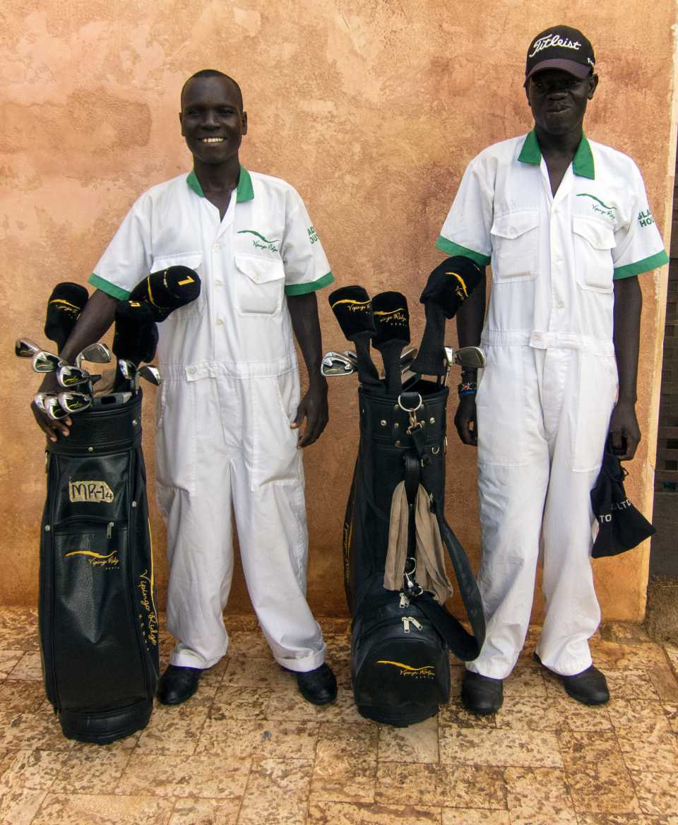 Caddies come from the Glad's House charity.