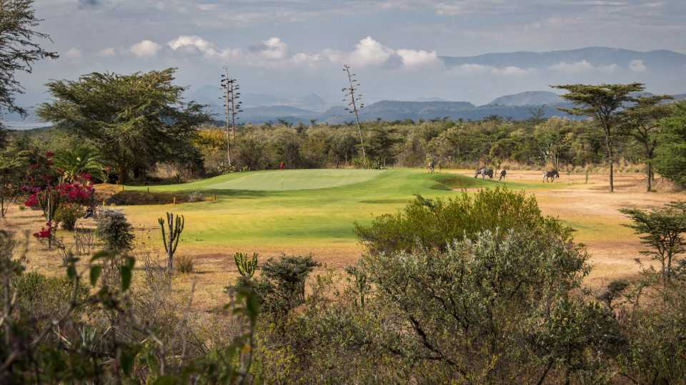 The third hole at Great Rift Valley Golf Club.