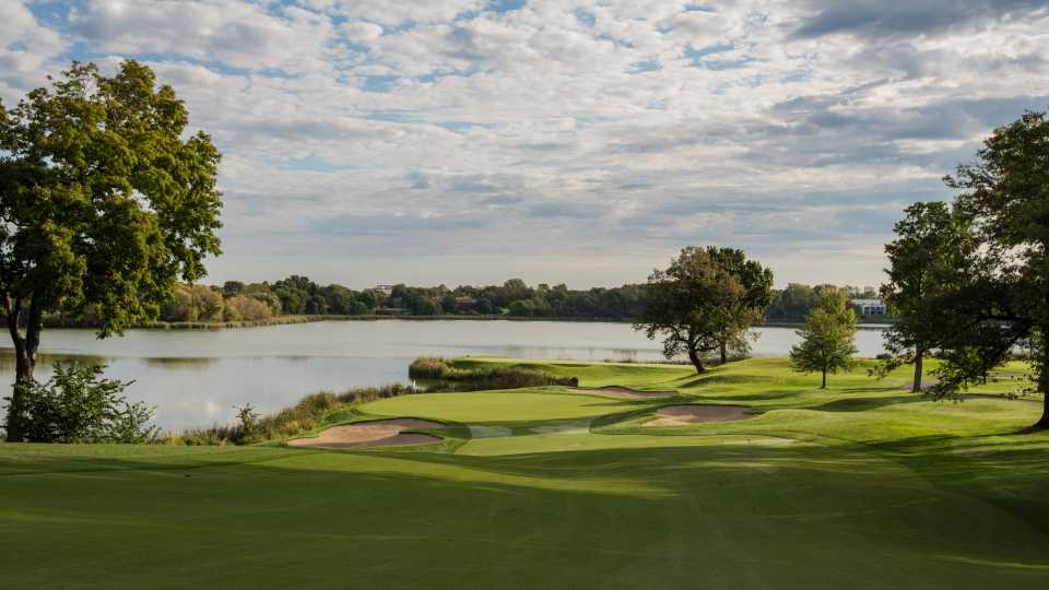 The 10th hole at Hazeltine.
