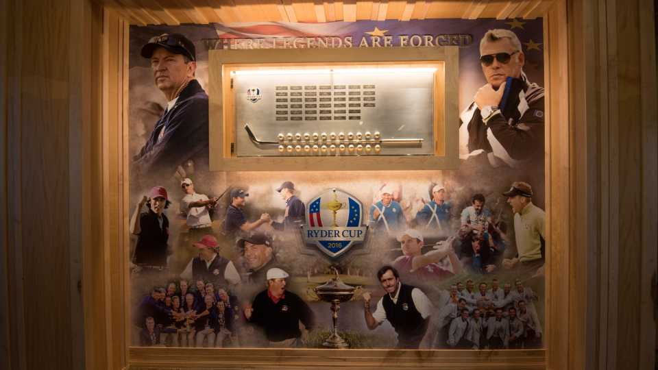 Ryder Cup display in the clubhouse.