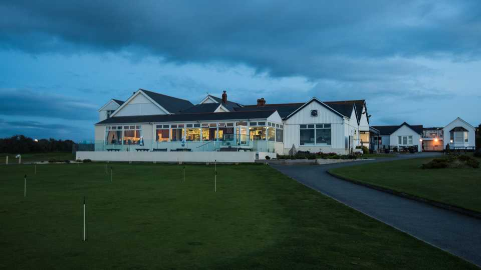 The clubhouse at Royal North Devon.
