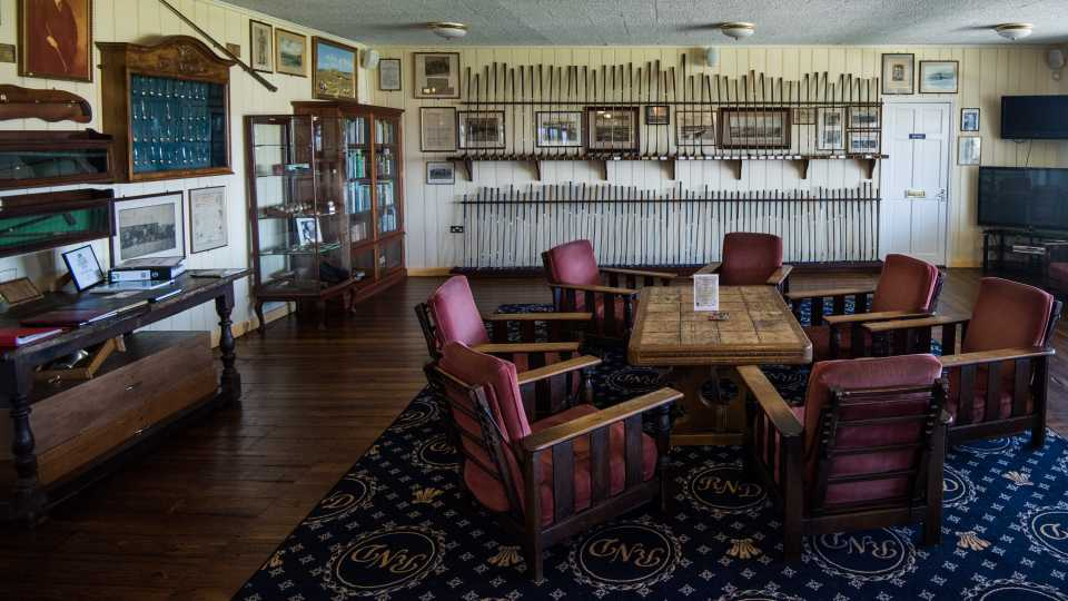 Sit down in the clubhouse museum and soak up the history.