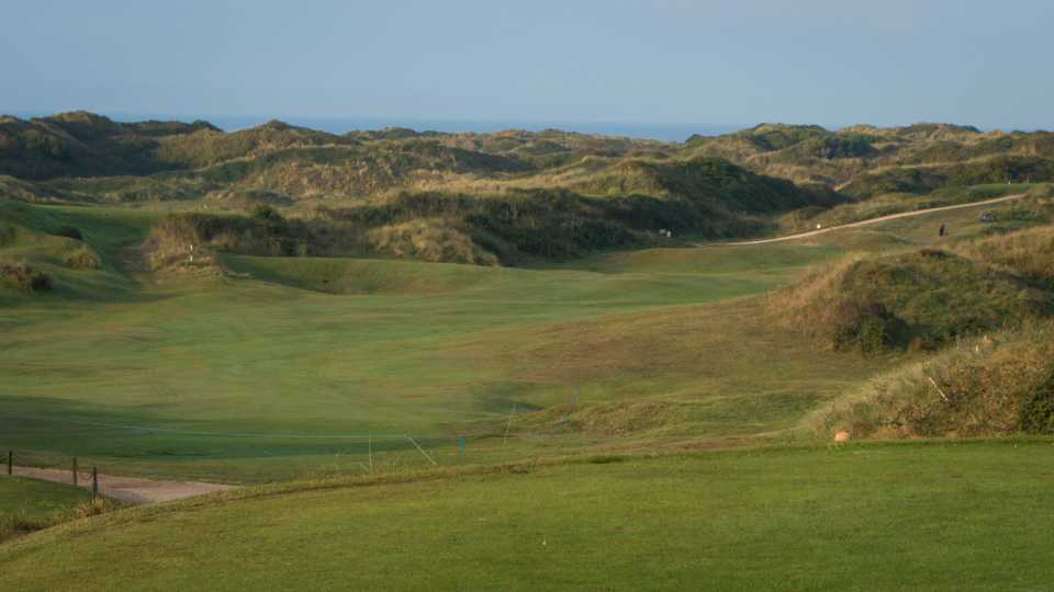 The opening hole on the West course is really the only one played in the dunes on that course.