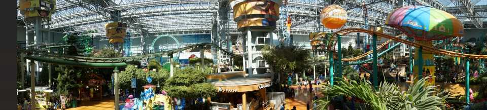 The mall is so big that an entire amusement park fits inside.