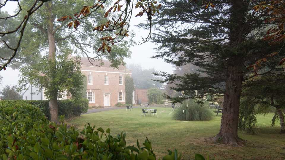 The Greenwood B&B in the morning fog.