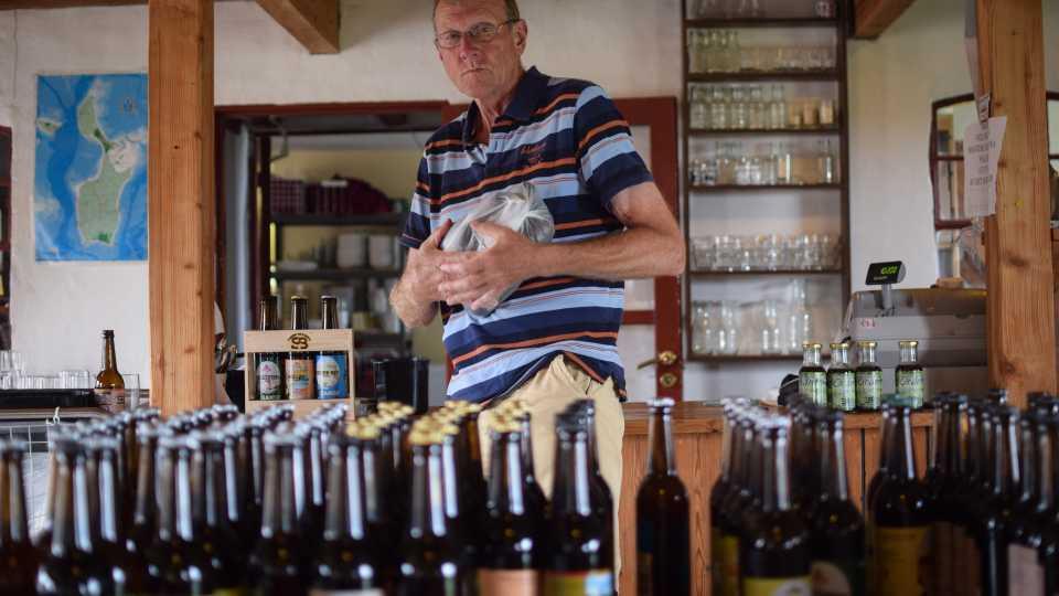 Ölutbudet är inte att klaga på, många bryggs lokalt på traditionellt vis.