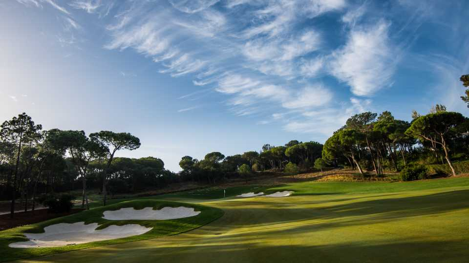 The finishing hole, a par five, at the North Course, Quinta do Lago.